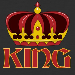 dark red gold king crown - Baseball T-Shirt