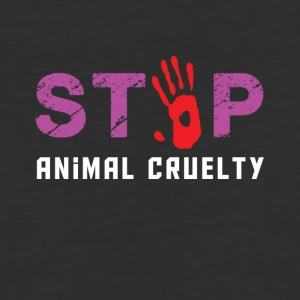Stop animal cruelty - Baseball T-Shirt