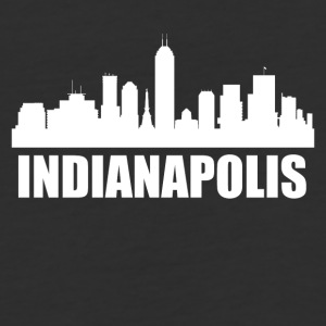 Indianapolis IN Skyline - Baseball T-Shirt