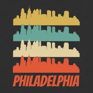 Retro Philadelphia PA Skyline Pop Art - Baseball T-Shirt