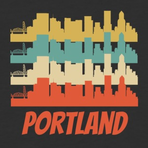 Retro Portland OR Skyline Pop Art - Baseball T-Shirt