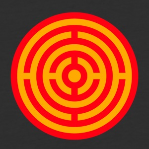 Red and Yellow Target Labyrinth - Baseball T-Shirt