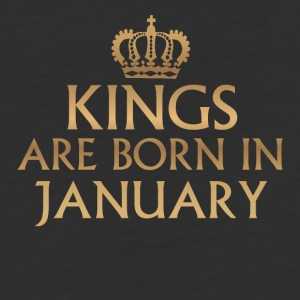 Kings are born in January - Baseball T-Shirt