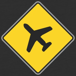 Road_Sign_airplane - Baseball T-Shirt