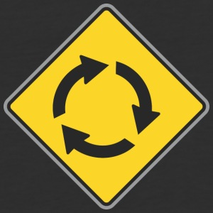 Road_Sign_circle_yellow - Baseball T-Shirt