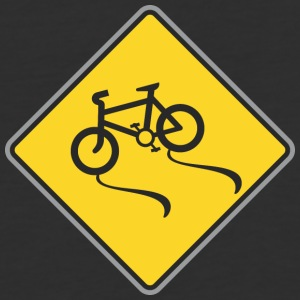 Road_Sign_bicycles_way - Baseball T-Shirt