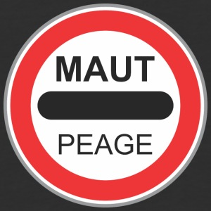 Road_sign_maut_peage - Baseball T-Shirt