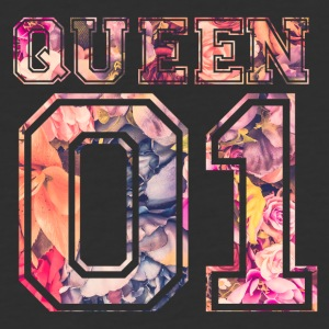 Queen_01_vintage_flower_bunt_2 - Baseball T-Shirt