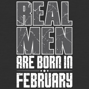 Real Men Are Born In February - Baseball T-Shirt