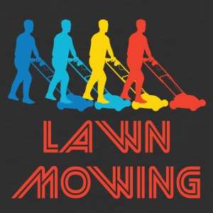 Retro Lawn Mowing Pop Art - Baseball T-Shirt