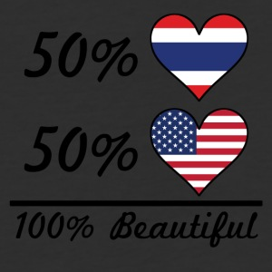 50% Thai 50% American 100% Beautiful - Baseball T-Shirt