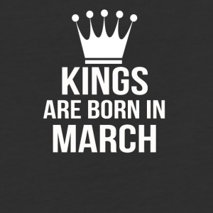 kings are born in march - Baseball T-Shirt
