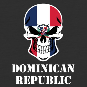 Dominican Flag Skull Dominican Republic - Baseball T-Shirt