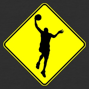 Basketball Crossing Sign - Baseball T-Shirt