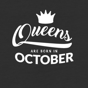 Queens are born in October - Baseball T-Shirt