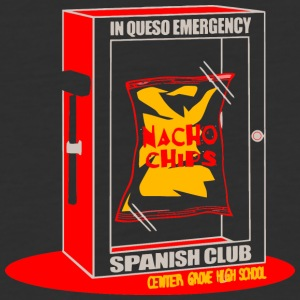 In Queso Emergency Nacho Chips Spanish Club Center - Baseball T-Shirt