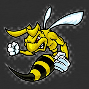 angry_fighting_bee - Baseball T-Shirt
