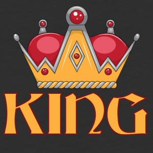 red gold king crown - Baseball T-Shirt