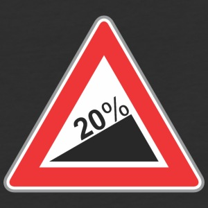 Road_Sign_20_percent_angle - Baseball T-Shirt
