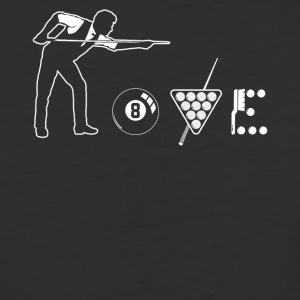 Billiard love shirt - Baseball T-Shirt