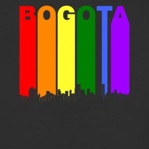 Bogota Colombia Skyline Rainbow LGBT Gay Pride - Baseball T-Shirt