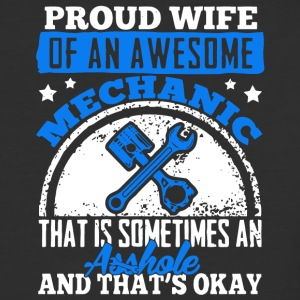 Proud Wife Of An Awesome Mechanic T Shirt - Baseball T-Shirt
