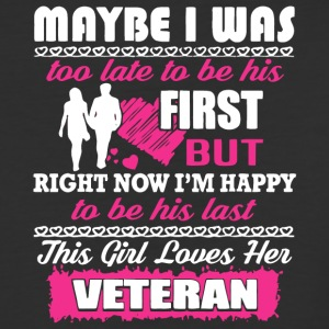 This Girl Loves Her Veteran T Shirt - Baseball T-Shirt