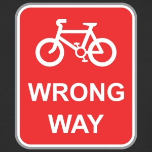 Road_sign_wrong_way_bicycle - Baseball T-Shirt
