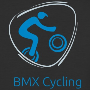BMX_Bicycling_blue - Baseball T-Shirt