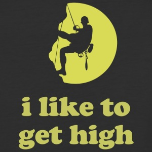 I Like To Get High T Shirt - Baseball T-Shirt