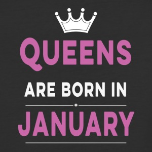 Queens are born in january - Baseball T-Shirt