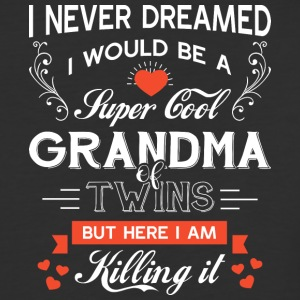 Super Cool Grandma Of Twins T Shirt - Baseball T-Shirt
