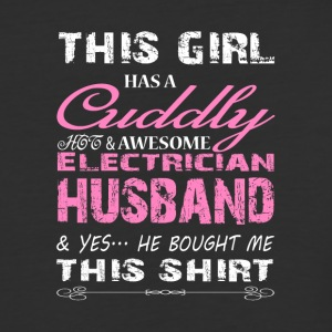 Cuddly Hot And Awesome Electrician T Shirt - Baseball T-Shirt
