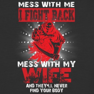 Don't Mess With My Wife T Shirt - Baseball T-Shirt
