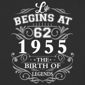 Life begins 62 1955 The birth of legends - Baseball T-Shirt