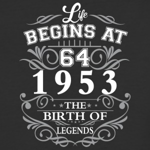 Life begins 64 1953 The birth of legends - Baseball T-Shirt
