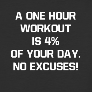 One Hour Workout Is Four Percent of Day Fitness - Baseball T-Shirt