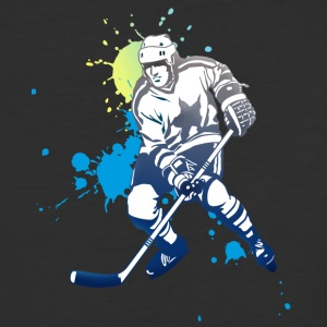 icehockey hockey player ice splash team play off l - Baseball T-Shirt