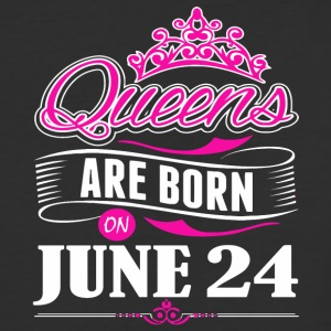 Queens are born on June 24 - Baseball T-Shirt