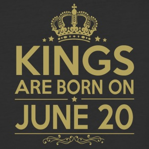 Kings are born on JUNE 20 - Baseball T-Shirt