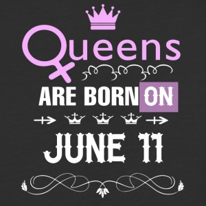 Queens are born on June 11 - Baseball T-Shirt