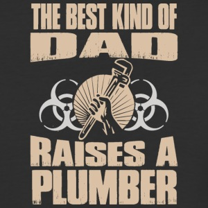 The Best Kind Of Dad Raises Plumber - Baseball T-Shirt
