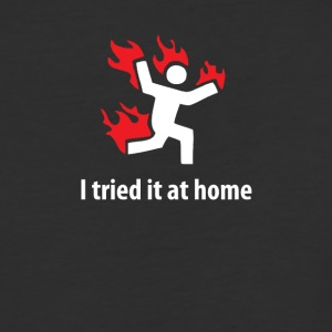 I tried it at home! Funny Science Project T Shirt - Baseball T-Shirt