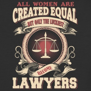 The Luckiest Women Become Lawyers - Baseball T-Shirt