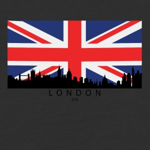 London England UK Skyline British Flag - Baseball T-Shirt