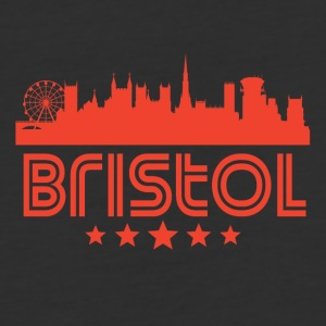Retro Bristol Skyline - Baseball T-Shirt