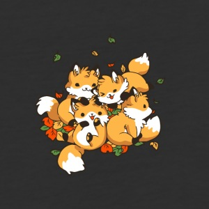 Playful Foxes - Baseball T-Shirt