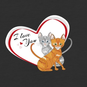 cat in love - Baseball T-Shirt