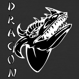 dragon_with_few_horns_black - Baseball T-Shirt