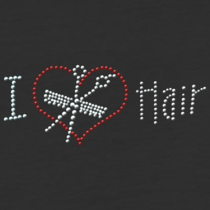 I Love Hair Rhinestone - Baseball T-Shirt